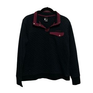 Spyder Quilted Cotton Half Snap Pullover